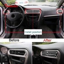 Tonlinker наклейки на крышку салона приборной панели для Citroen C Elysee/Peugeot 301, автостайлинг, 8 шт., хромированные наклейки из АБС пластика