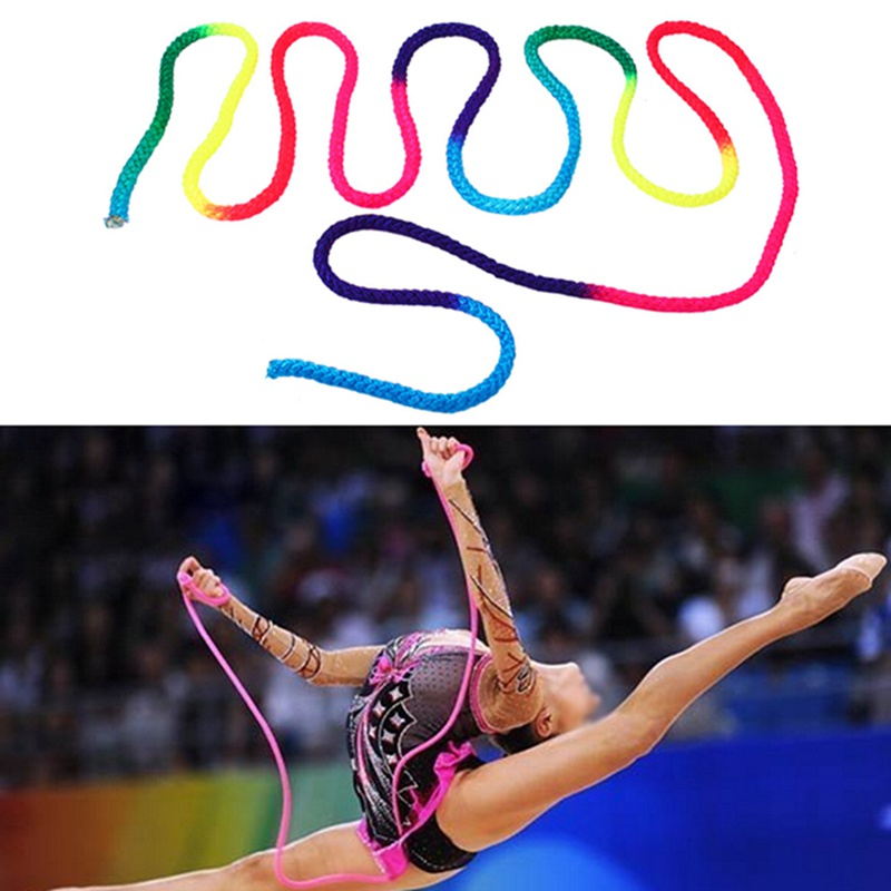3 M Rainbow Gymnastics Rope Solid Competition Arts Training Rope Gymnastics  Sports Rope newest 713d204736b8