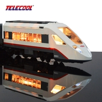 LED Light Up Kit For Trains High Speed Passenger Train Remote Control Trucks Toy Lepin 02010