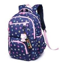Высокое качество подросток школьные сумки старший школьный рюкзак Цветочный принт для девочек школьная сумка Детские рюкзаки Молния Рюкзаки sac mochila
