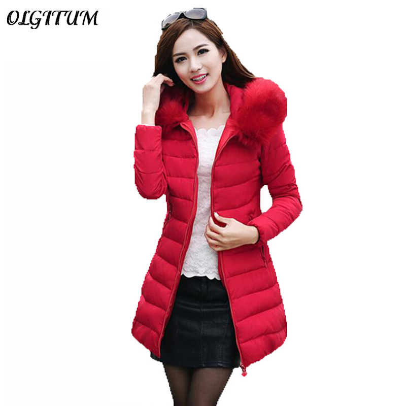 2017 Womens Winter Jackets And Coats Thick Warm Hooded Down Cotton Padded Parkas For Women's Winter Jacket Female Manteau Femme black 2017 new parkas female winter coat jacket thick cotton down hooded coats turtleneck padded jackets womens outwear women