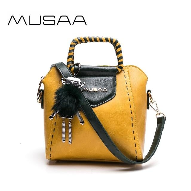 473f1763d6cf MUSSA Tote Cute Women s handbags Shoulder bag female Luxury handbags women  bags designer 2018 fashion Yellow Wholesale MS1035-5
