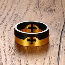 Men's Unique Removable Cross Stainless Steel Ring