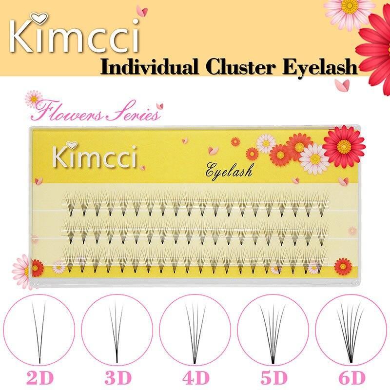 Профессиональные индивидуальные кластеры для наращивания ресниц Kimcci 2D/3D/4D/5D/6D, натуральные мягкие черные бриллиантовые ресницы для макияжа