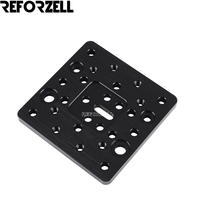 50Pcs/Lot 3D Printer Parts CNC Openbuilds Aluminum Plate Sheet C beam Gantry Plate Black Metal for Stand Bracket Stamping Plate