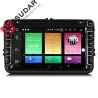Isudar Car Multimedia player GPS Android 8.0 2 Din For VW/Volkswagen/POLO/PASSAT/Golf Rear View camera Capacitive Touch Screen