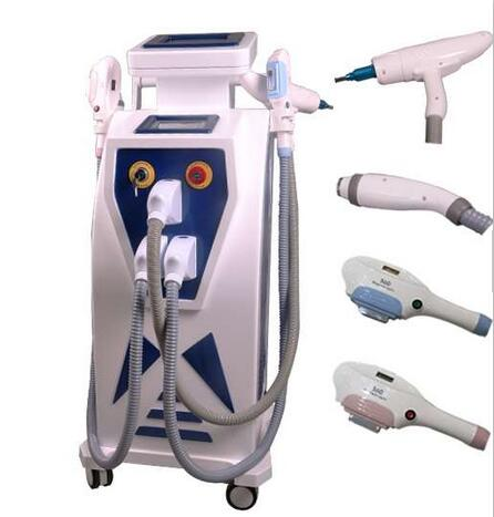 Free Shipping Hot 4 In 1 Fast Hair Removal OPT Ipl Laser/shr E Light/shr Ipl Skin Rejuvenation Machine/Q Switch Nd Yag Laser