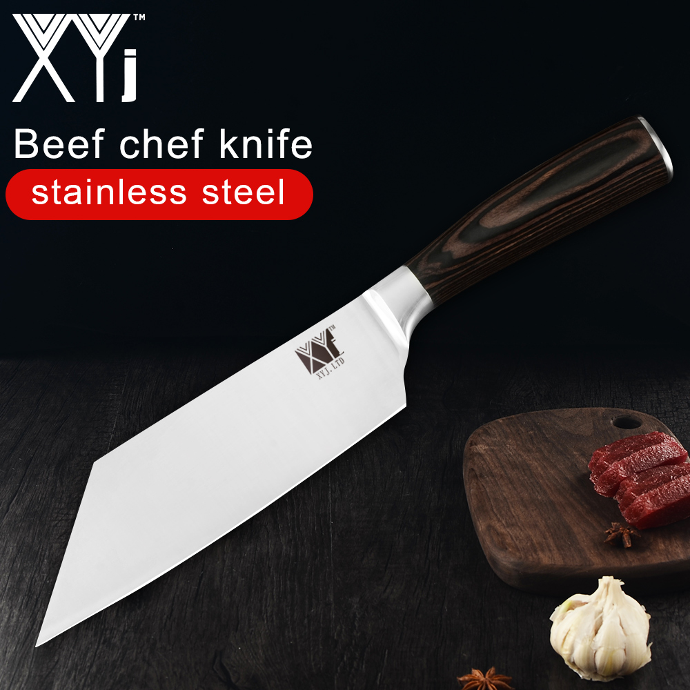 XYj Kitchen Knife 4cr13 Stainless Steel Chef Knife Japanese Beef Meat Veg  Cooking Tool Handmade Beef Chef Knife Tool Accessories Coolest Kitchen ...