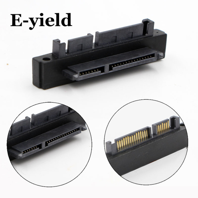 90 Degree Angled SATA 22 (7+15) Pin Male to Female Extension Computer Adapter Convertor