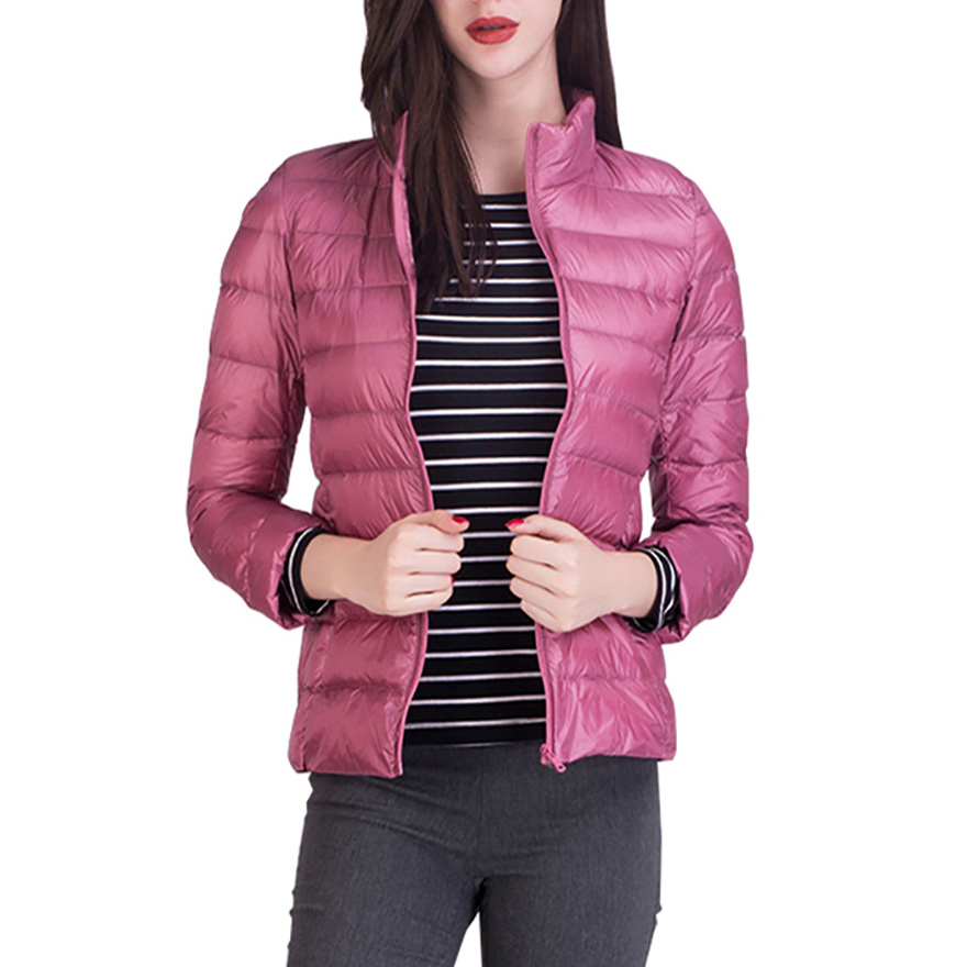 Winter Women   Coat   90% Duck   Down   Jackets Warm   Coat   Women Fashion Feather   Down   Jacket Autumn Outwear Windproof Slim Parka Zipper