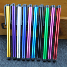 Free Shipping 50pcs/lot Color Aluminum Alloy Capacitive Touch Screen Stylus Pen Tablets Smart phones Pens School Home Supplies aluminum alloy stylus pen w clip for iphone red