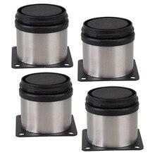 4 шт. 50 х 50 мм Регулируемый Поддержки Ножки Мебели Кухонные Шкафы Из Нержавеющей Стали Кабинет Ноги