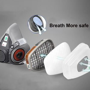 Image 5 - 9in1 3M 6200 Half Facepiece Gas Mask Respirator With 6001/2091 Filter Fit Painting Spraying Dust Proof