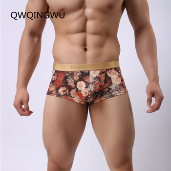 High Quality Men Boxers Shorts Mens Novelty Flowers Print Underwear Brand Sexy Fashion Boxers Underpants Low Waist Boxers фото