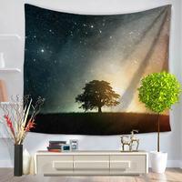 CHARMHOME Nebulosa Spazio Modello Arazzo Appeso Tessuto In Poliestere Albero Della Decorazione Della Parete di Paesaggio Naturale Coperta Arazzi