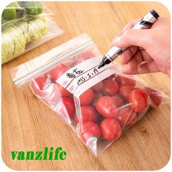 30pcs/vanzlife Kitchen refrigerator food fresh bag for meat, fish, fruit freezer storage bags ,clothing Underwear sock bag 1