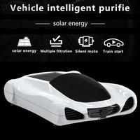 Solar Power Car Air Purifier Auto Freshener Aroma Diffuser Aromatherapy Ionizer HEPA PM2.5 Eliminator Negative Oxygen Bar