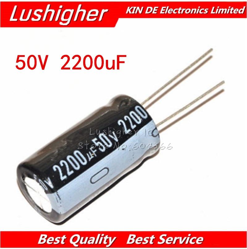 2PCS 2200UF 50V RUBYCON RADIAL ELECTROLYTIC CAPACITORS.18X35MM.YXG 50V2200UF