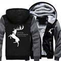 US Size Game of Thrones Ours is the Fury House Baratheon of Storm's End Men's Hoodies Sweatshirts Outwear Polo Hoody Sportwear