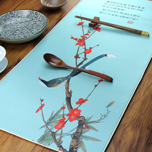 Silk Mouse Pad China wind tea mat silk table multifunctional pad Drink Coasters creative lucky gift Extended Large big size
