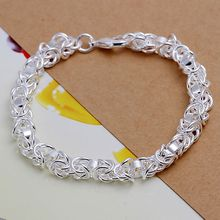 Bracelet 925 jewelry silver plated  Bracelet  Fashion Jewelry Bracelet Leading Shrimp Buckle 20CM Chain Free Shipping ppol LH073