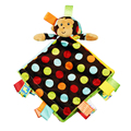 0 + Детские Детские Игрушки Супер Мягкие Плюшевые Успокоить Toys Обезьяна кукла Платок С Погремушками
