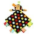 0 + bebé kids toys muñeca del mono de juguete de peluche super suave apaciguar pañuelo con sonajeros