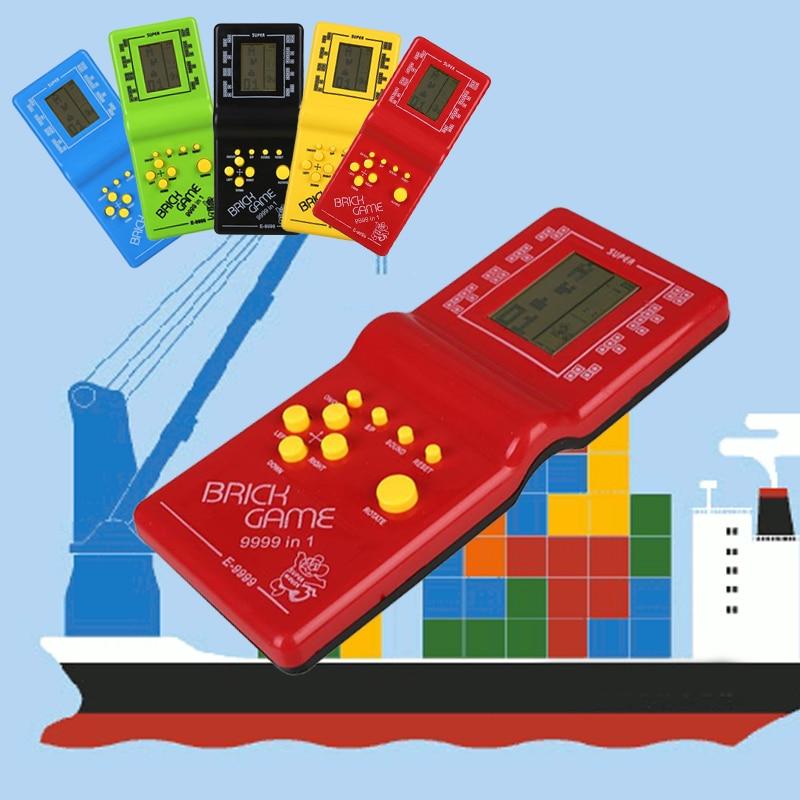 Video Game Tetris Game Console Brick Hand Brick Tetris Game Toy 2018 Hot Sale Drop Shipping