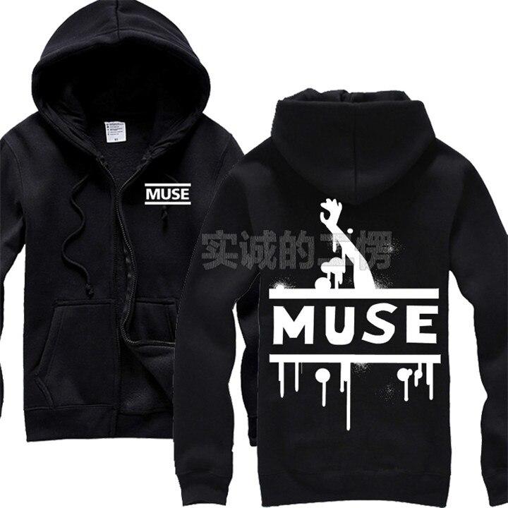 € 34.77 10% de DESCUENTO|5 diseños Muse Rock algodón Hoodies marca ropa chaqueta Heavy Metal cremallera sudadera colorido chandal sudadera in