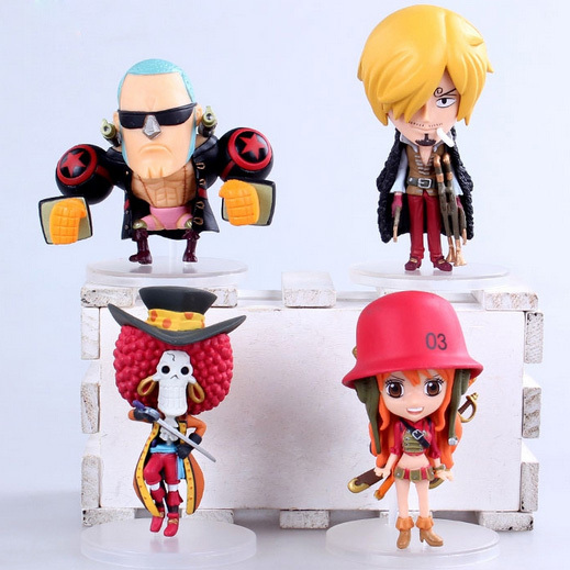 Q Version Anime One Piece Film Z Frank Sanji Nami Brook PVC Action Figure Collection Model Toys Dolls шарф frank q