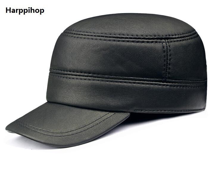 Распродажа Популярные из натуральной кожи Кепки s зимние теплые Шапки регулируемый ухо защиты высшего качества шляпа Кепки Бесплатная дост