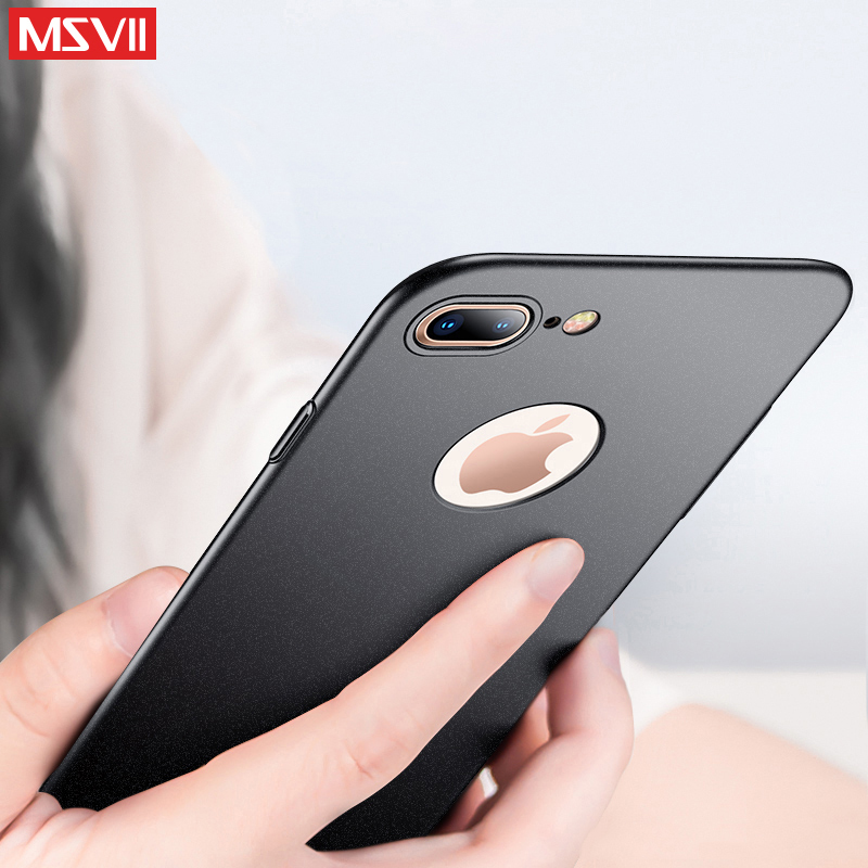 30dd9b0fe36 MSVII Phone Cases For iPhone 7 Case Original Luxury Slim Full Protection PC  Hard Protective Back Cover For Apple iPhone 7 Plus