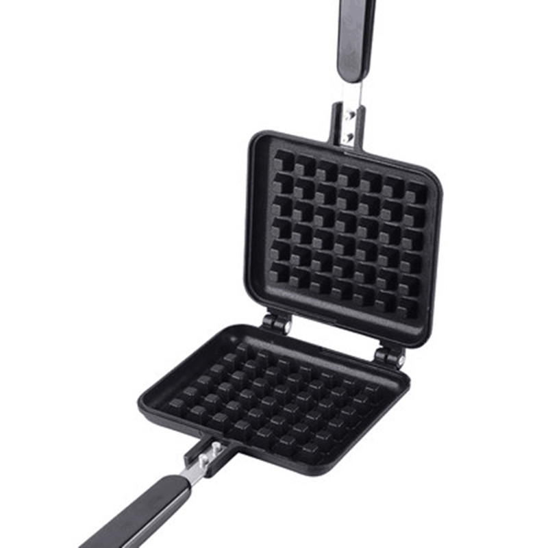 Non-stick DIY Household Waffle Pan Plate Waffle Mold Aluminum+Teflon Waffle Maker coating Stove Waffle DIY Muffins Maker Plate iron teflon non stick coating 12 in 1 muffin cup cake diy mold black