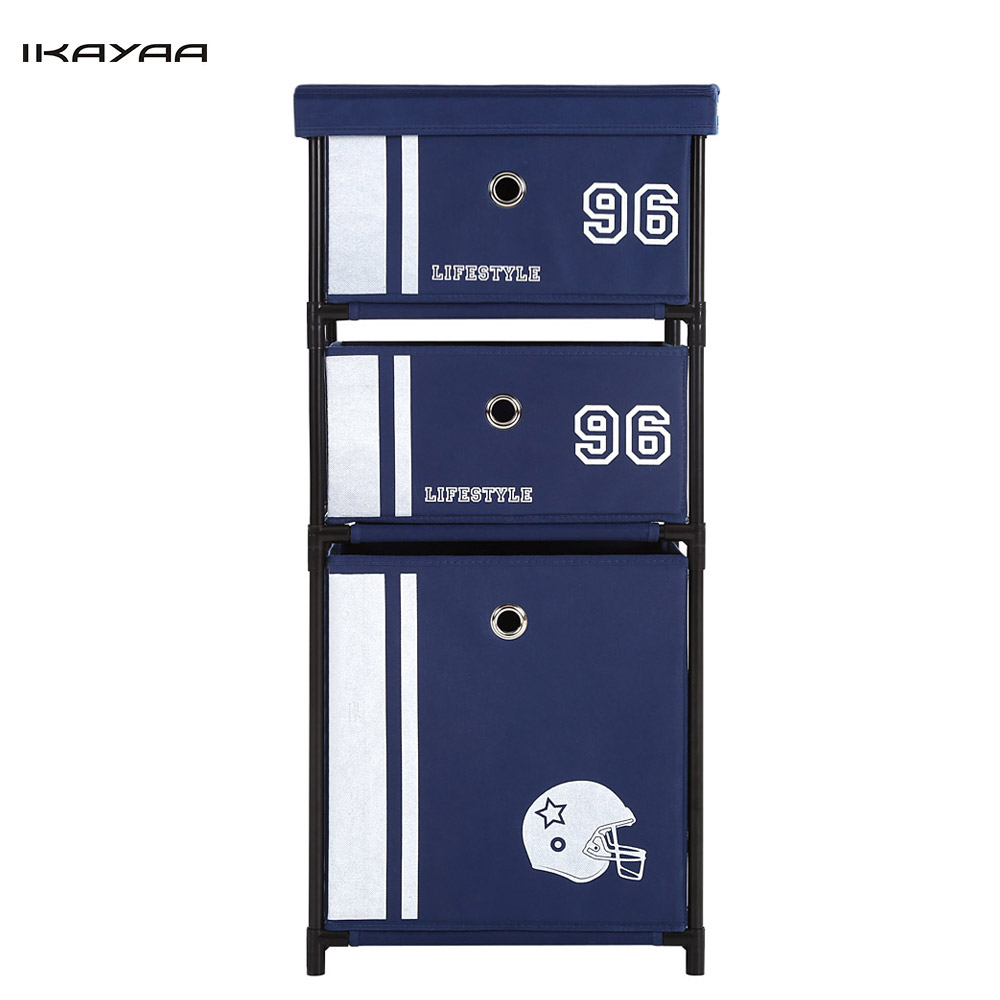 iKayaa US FR DE Stock Wardrobe Organizer Closet Storge Box 3 Drawer on