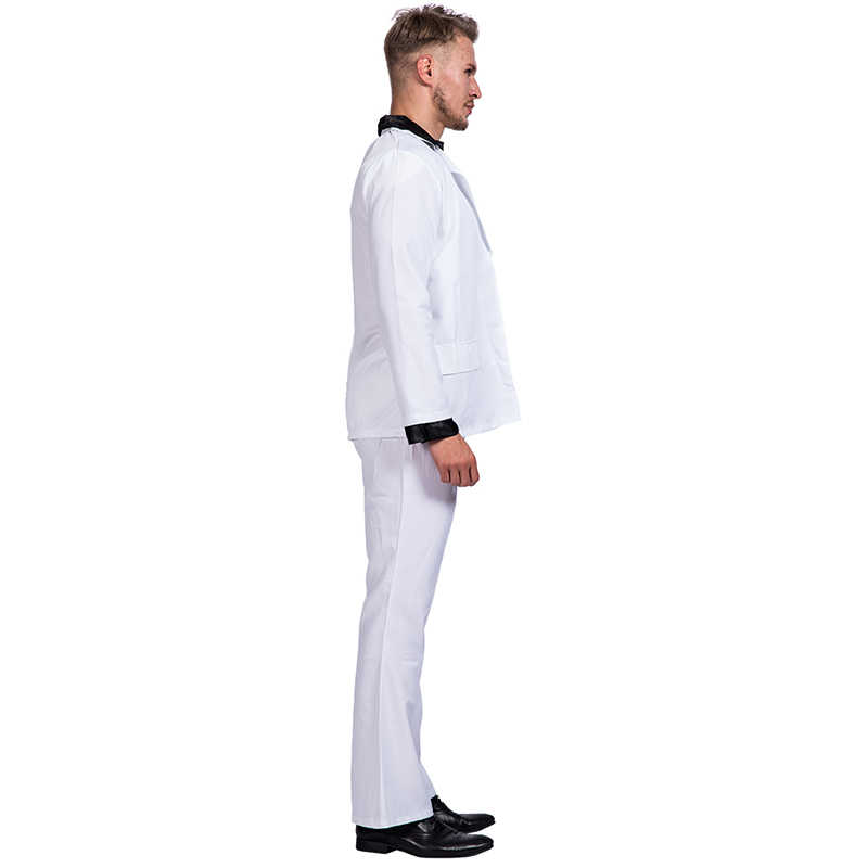 ... Retro Night Fever Dancer 80s Disco Dance Costume Men Fancy Dress Club  Clothes Halloween Costume Adult ... d4fad390b