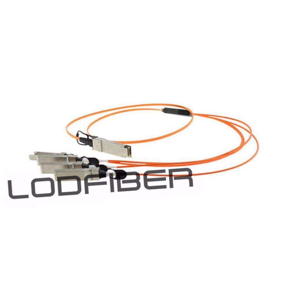 2m (7ft) Huawei QSFP-4SFP10-AOC2M Compatible 40G QSFP+ to 4x10G SFP+ Breakout Active Optical Cable2m (7ft) Huawei QSFP-4SFP10-AOC2M Compatible 40G QSFP+ to 4x10G SFP+ Breakout Active Optical Cable