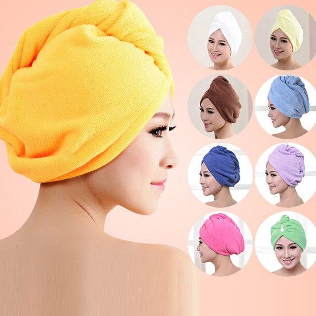 9 Colori toalha de banhoMicrofiber Asciugamano Capelli Cappello A Secco Cap rapi