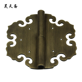 [Haotian vegetarian] new Chinese antique brass coat detachable door hinge (hinge) Small 10cm