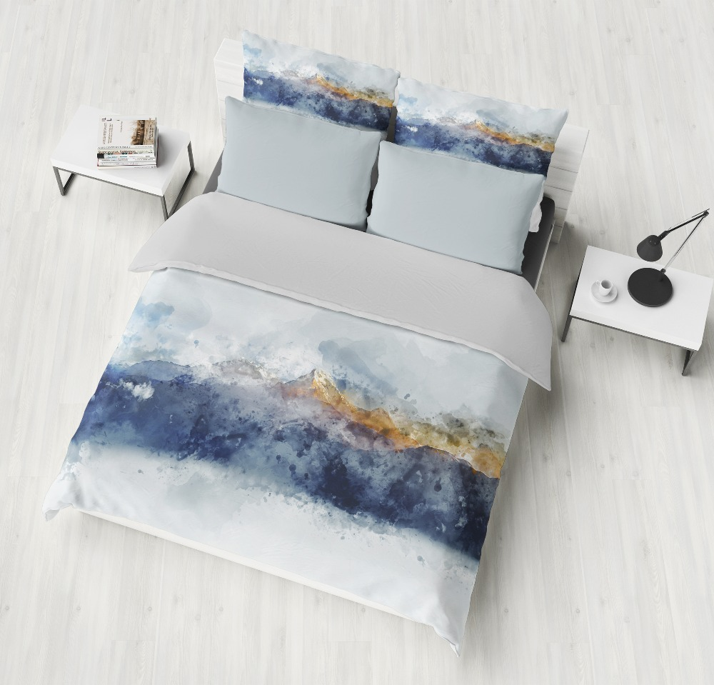 3D Bedding Sets Forest mountains scenery Print Duvet cover set lifelike bedclothes with pillowcase bed adult/kids home Textiles