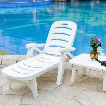 Meble ogrodowe leżak meble ogrodowe tumbonas para jardin meble ogrodowe plastikowe składane krzesło na plażę salon de jardin tanie i dobre opinie Leżaku Z tworzywa sztucznego Nowoczesne 194*77*103cm Ecoz