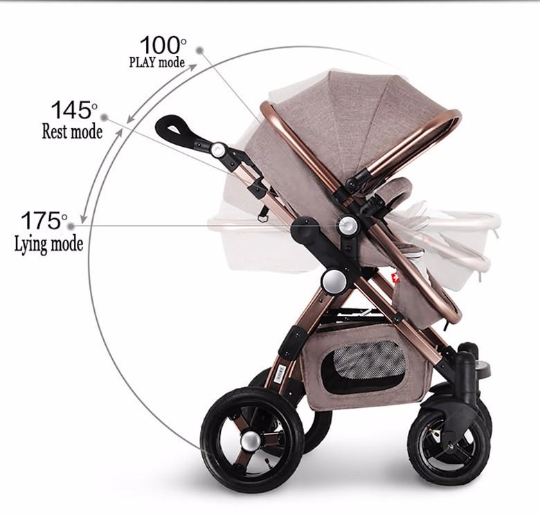 GoldenBaby wózka dziecięcego 2 w 1 3 w 1 szok składany składany newborn baby wózek Rosja darmowa wysyłka 10