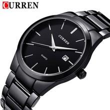 2016 nueva moda Curren de la marca de diseño de negocios calendario hombres reloj casual reloj de cuarzo de acero inoxidable reloj de lujo de regalo 8106
