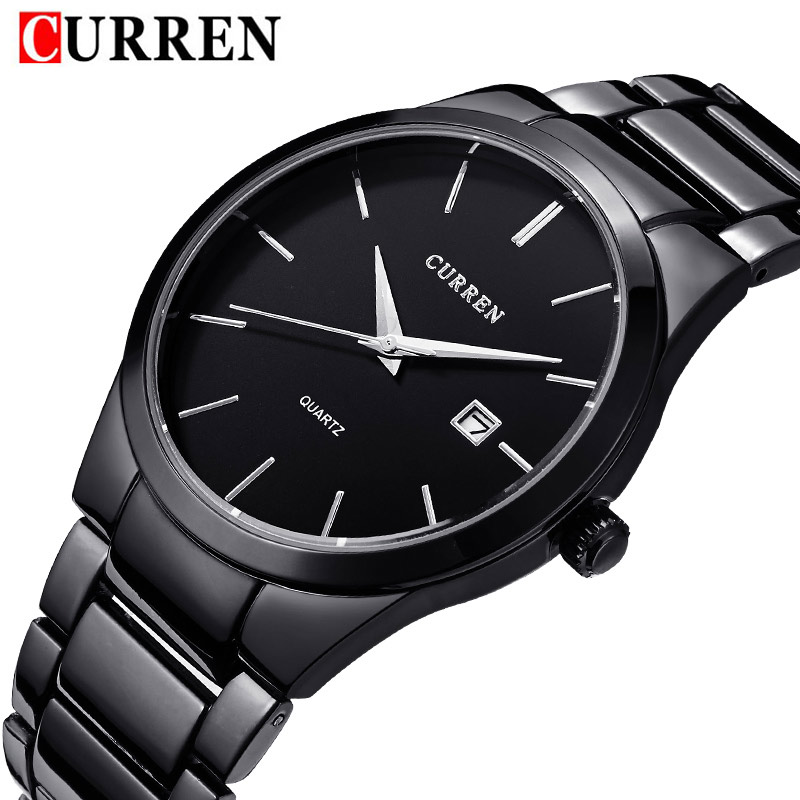 men's watches new fashion Curren brand design business calendar men male clock casual stainless steel luxury wrist quartz watch curren brand luxury stainless steel watch men business casual
