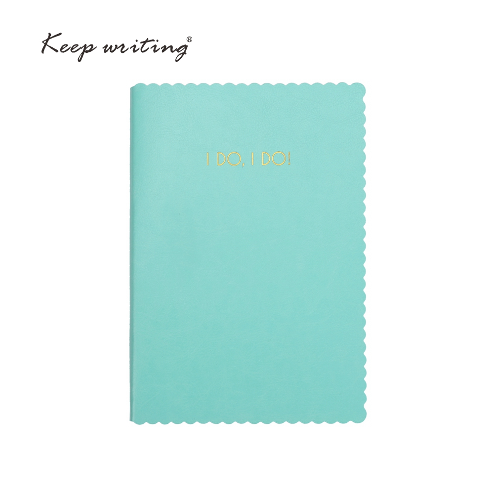 A5 notebook 96 sheets cream paper lined pages Grid page PU leather planner I DO I DO journal mint green pink cover kicx pdn 5 2