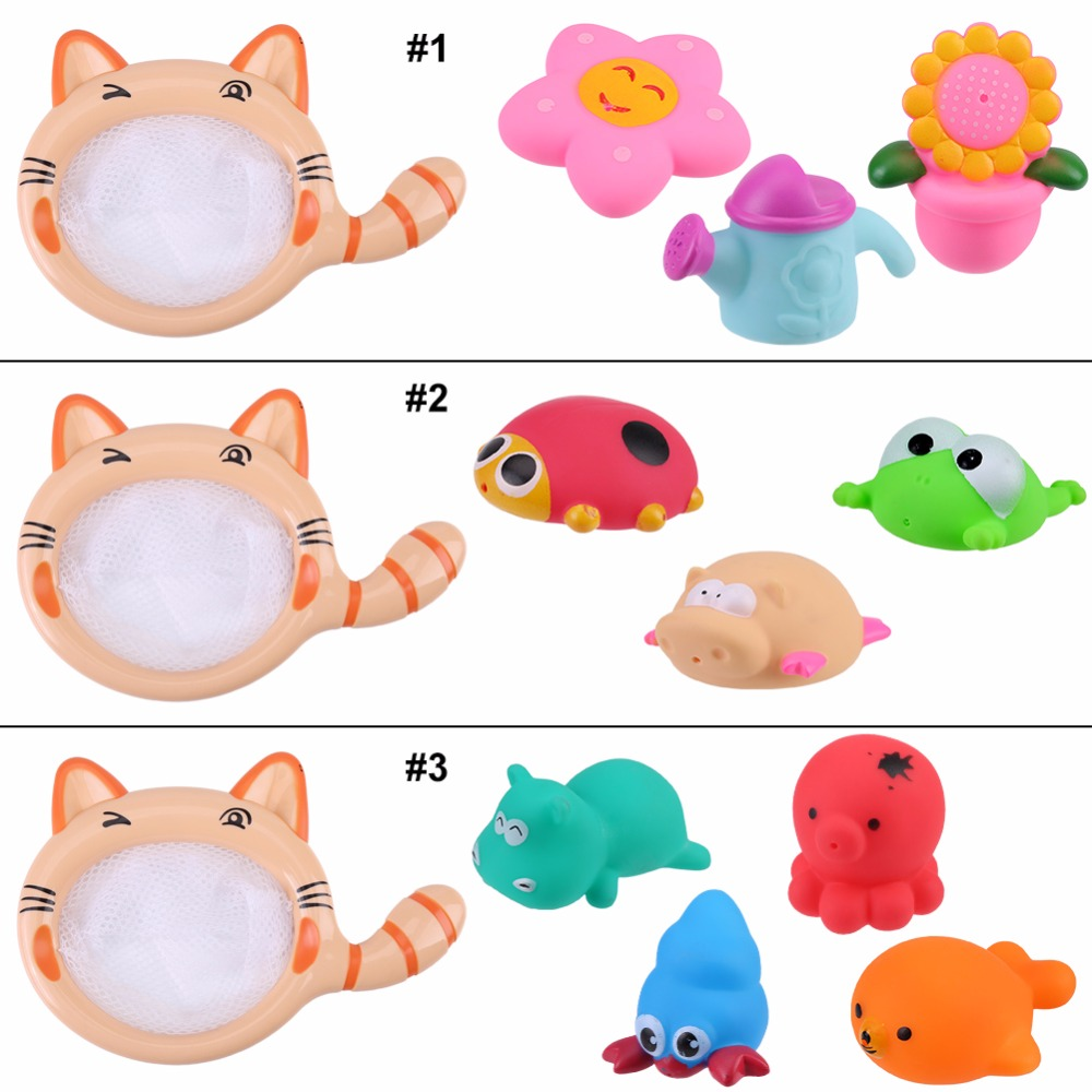 Baby Cute Cartoon Animals Bathing Swimming Pool Float Toy Set Water Funny Play Toys Swimming Classes Summer Play Water Bath Toy