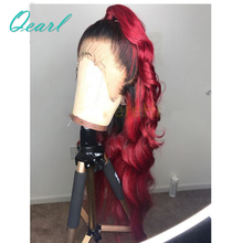 Free Style #1B/99J #1b/27 Ombre Color 13*6 Lace Frontal Body Wave Hair Wigs Pre Plucked Human Hair Wigs With Baby Hair Qearl oxette 15 24 1b 33 27 5 ombre clip hair