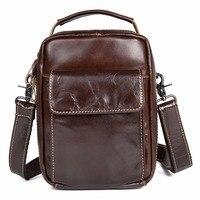 JMD JMD Hoge Kwaliteit Cowboy Lederen heren Brown Trendy Schouder Tas Kleine Flap Bag Voor Volwassen 1027C