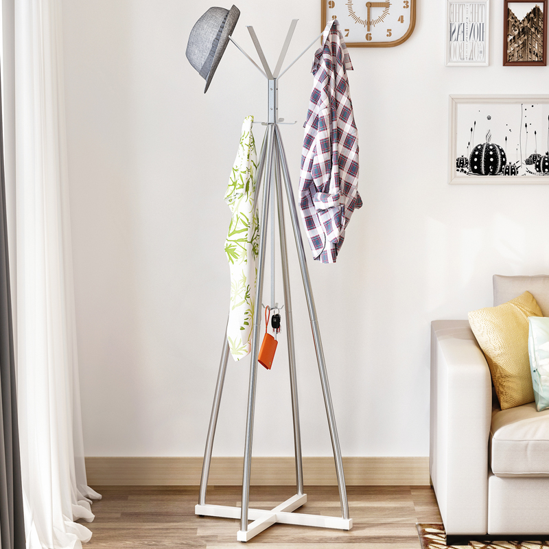Coat Rack Reinforcement Practical Floor Type Iron Coat Racks Racks Rust-proof Fashion Ring Coat Rack coat gaudi coat
