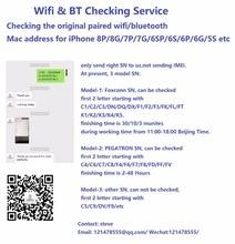SN Control Wifi y BT para iPhone xs x, 8P/8G/7P/7G/6SP/6S/6P/6G/5S, dirección original wifi/bluetooth Mac para PEGATRON Foxconn