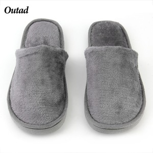 OUTAD Men Women Slippers Solid